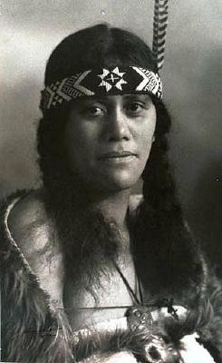 Portrait of a Maori woman, 1930's