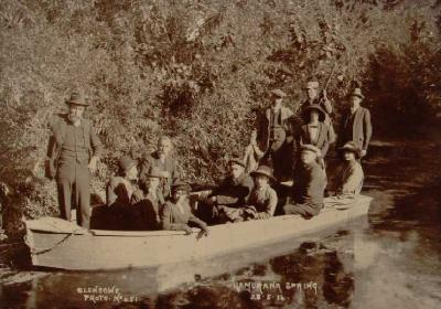 Party in boat at Hamurana Springs