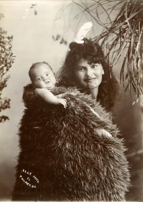 Ani Motoi (woman ) and Robert Doherty (baby)