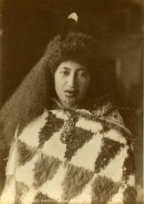Woman with feather cloak