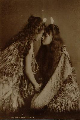 Two young women - The hongi