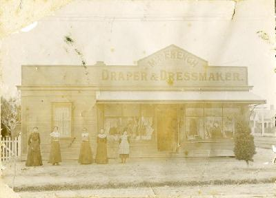 Miss French Draper & Dressmaker, south east corner Fenton and Pukuatua streets