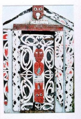 Carved doorway - O A Uenuku