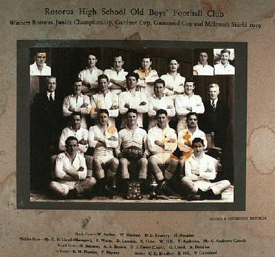 Rotorua High School Old Boys' Football Club 1939