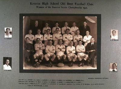 Rotorua High School Old Boys Football Club 1941