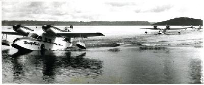 Tourist Air Travel floatplanes on Lake Rotorua
