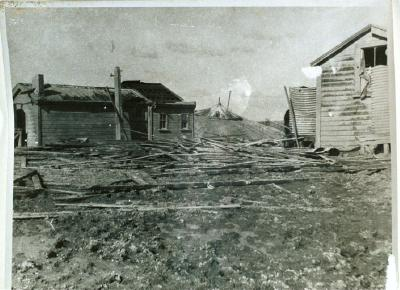 Wrecked accommodation house Guides quarters