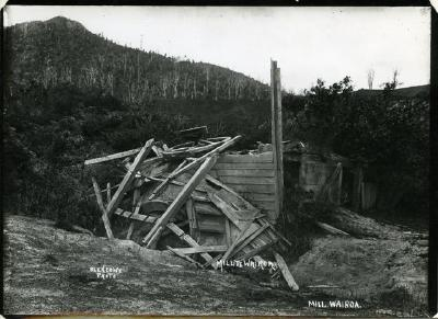 Mill, Te Wairoa after the eruption