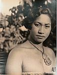 Maori girl (full face, eyes to camera, shoulders to right) no headband, bust up shot
